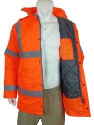 Verkeersveiligheid katoenmatten Hoge zichtbaarheid reflecterende vulling Houd uw veiligheid warm Werkkleding