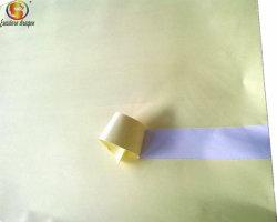 Vierge Woodfree Offest auto-adhésif autocollant papier des rouleaux de papier avec le blanc de chemise de libération de silicium pour l'impression
