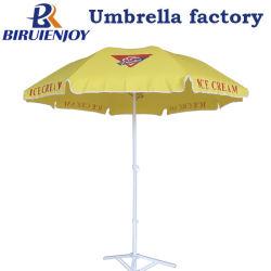 Strong Outdoor UV parasol de plage avec logo personnalisé de l'impression 180/200 cm pour la promotion/publicité/affichage de la rue