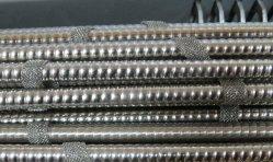 Tube en acier inoxydable ondulé pour échangeur de chaleur les tuyaux de la série 300 321 304 tubes 316L