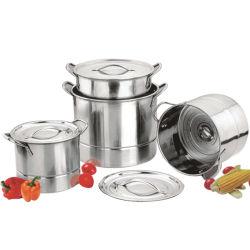 Formato del POT profondo della minestra della cucina dell'hotel dell'acciaio inossidabile grande che cucina il POT di riserva del POT