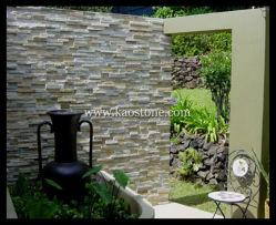 La pizarra la construcción de piedra de la fachada exterior fachada decorativa, el panel de pared