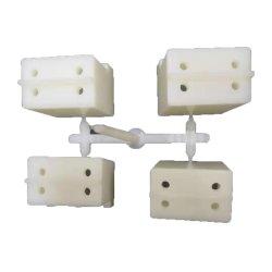 La precisión de OEM de moldeo por inyección de PVC ABS para la construcción de moldes de plástico blanco