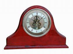 Luxe en bois de palissandre finition piano Mantel Horloge de table