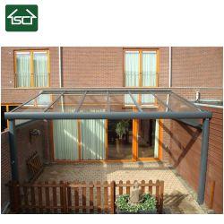 Aluminium solide de plein air patio couvert de pavillon avec toit en verre VSG