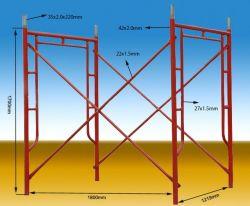 La galvanización de alta calidad marco de un andamio de acero