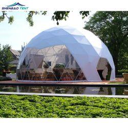 خيمة مقبة من PVC فاخرة مقاومة للماء تغليق خيمة منزل القبة الجيوديسية