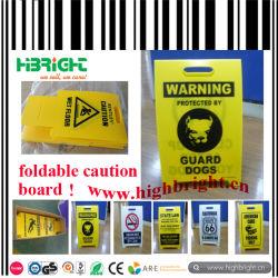 Hohler Blatt-Plastik, der nasses Fußboden-Warnungsschild faltet