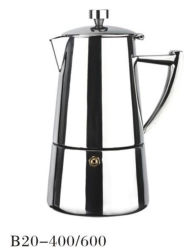 antike Espresso-Kaffeemaschine Moka Potenziometer des Metall4/6cup