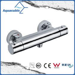 Salle de bain thermostatique Barre ronde Chrome exposés Soupape de mélangeur de douche (AF4202-7)
