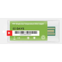 リーファーの容器および交通機関のための費用有効Pdfの温度データ自動記録器