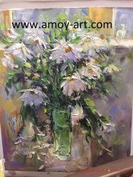 Ручная работа белый цветок размножения картины маслом для монтажа на стену оформление