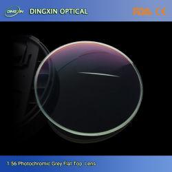 중국 공장은 1.60 Flat-Top Hmc Bifocal 씨 8 광학 렌즈를 완료했다