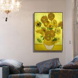 Fleur de l'huile sur toile peinture moderne de la photo pour la décoration d'accueil