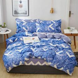 4組のPCSドバイの羽毛布団カバーセットは100%敷布の羽毛布団および枕が付いている一定の敷布の寝具を印刷した