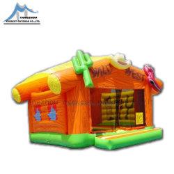 Kundenspezifischer Firmenzeichen-Schlag-Haus-riesiger aufblasbarer Spielplatz