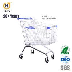 Ес210металлический супермаркет стороны торгового тележки