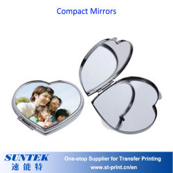 Пустые Сублимация двойной увеличительное компактный косметический составляют стороны наружного зеркала заднего вида
