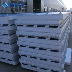 50mm/75mm/100mm耐火性の熱くする絶縁された軽量EPSの外部のボードの壁または屋根サンドイッチパネル