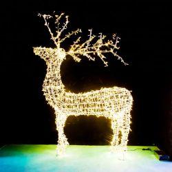 Indicatore luminoso di motivo degli animali della renna di natale del LED