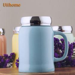 創造的なコーヒー・マグミラーのふたのコップの真空のコップの陶磁器の広告のコップのギフトUnicolor第1