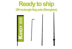 Vorbereiten, um zu versenden! 2m Vierecks-Markierungsfahnen-Pole-Fiberglas