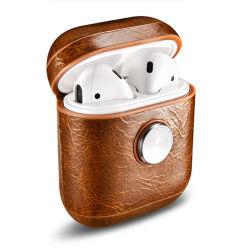 prix d'usine Guangzhou main en cuir véritable de bonne qualité Spinner Airpods Cas Cas écouteurs