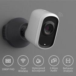 Macchina fotografica del CCTV WiFi con la batteria ricaricabile del LG, visione notturna, video di FHD 1080P con rilevazione di movimento, audio bidirezionale, analisi di Ai Acitivity