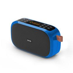 Shidu Bluetooth 5.0のポータブルの電力増幅器のLCDスクリーンFM無線SD-S168が付いている小型デジタル音楽スピーカー