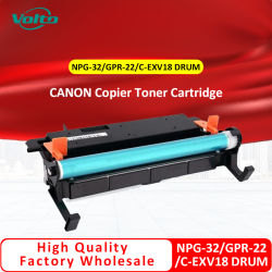 Comercio al por mayor Npg 32 Npg-32 G-32 GPR 22 RPG-22 C-EXV18 EXV18 EXV 18 Cartucho de tóner de la copiadora de tambor para Canon IR-1018 1022
