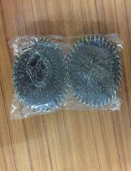 Scourer de malla metálica para la limpieza de su uso con paquete colectiva