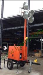 Industrial petit Portable part pousser générateur électrique de la tour lumineuse Vehicle-Mounted mobile
