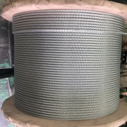 6X37 Ungalvanizedの鋼線ロープ