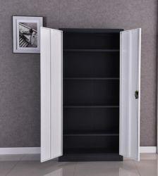Des einfachen Entwurfs-2 justierbare Regal-Büro-Möbel-Stahl-Aktenschrank Schwingen-der Tür-4