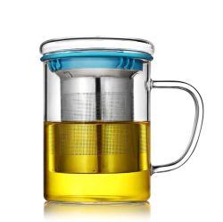 Le thé en acier inoxydable résistant à la chaleur des crépines de coupe de l'eau en verre épaissie