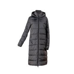 El largo abrigo de las mujeres Puffer acolchado cálido Fake abajo Parka chaqueta