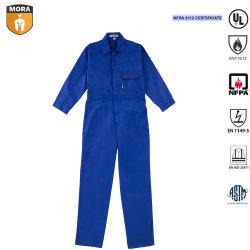 La norme NFPA 2112 certifié bleu royal Coverall 88% coton avec 12% Nylon