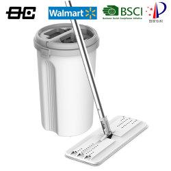 Aufsteigen-Selbst-Drücken das einfaches Fußboden-Säubern flach Mopp mit 2 mehrfachverwendbaren Mopp-Auflagen für nass-trockenes zusammen