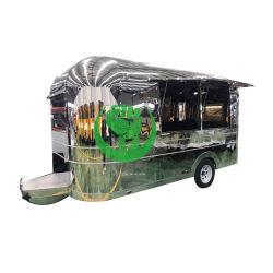 Camion d'acciaio fritto dell'alimento della corrente d'aria di Staninless del pollo con la griglia da vendere