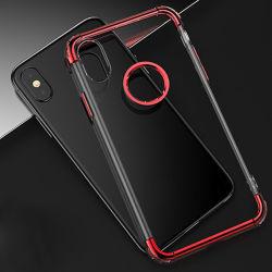 Placage PC+TPU Transparent couvercle de boîtier de Téléphone pour iPhone x