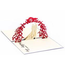 創造的なキャンディ3Dの結婚式の招待は挨拶状を梳く