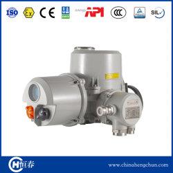 Protección IP68 AC/DC 24V 110V 220V 380V cuarto de vuelta del actuador de válvula de mariposa eléctrica/ MOV