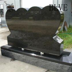 Estilo Europeu simples de granito em mármore negro Headstone polaco/Tombstone