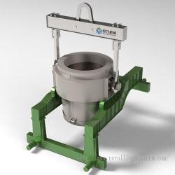 مغرفة معدنية صناعية عالية الجودة مصبوبة فولاذية للصهر