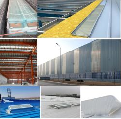 강철 구조물 건축재료 내화성이 있는 투명한 스카이라이트 FRP 장