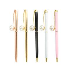 Penna di Ballpoint della signora Pen Metal di modo con la grande clip della perla