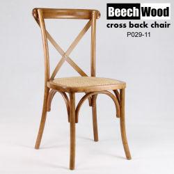 كرسي زفاف في عرس الصين بالجملة Wood Resin Cross Back