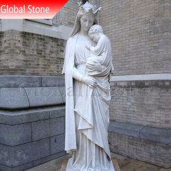 يد ينحت دينيّ أبيض رخاميّة مقدّسة ميري تمثال ([غسّ-209])