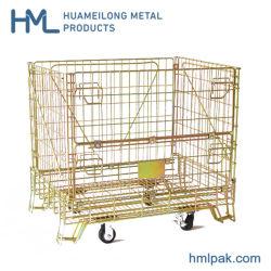 La Chine Logistique en zinc plaqué de gros panier en treillis métallique avec des roues