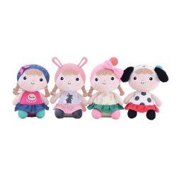 女の子の赤ん坊のプラシ天のおもちゃのKawaiiのきれいな赤ん坊は詰められた人形をなだめる